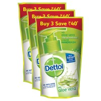 Dettol handwas refill pouch 175ml,Aleo vera Buy 3 save 40