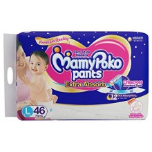 Mamy Poko Pant Style Diapers - Large, 46 Pieces Pack (9kg - 14kg)