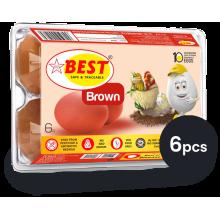 Best Brown Eggs, 6 Pcs