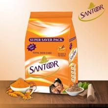 Santoor Bathing Bar Super Saver Pack, 100gm (Pack of 4)
