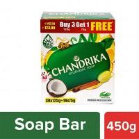 Chandrika Ayurveda Handmade Soap, 125g x 3 + 75g Free
