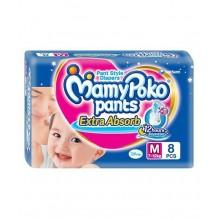 Mamypoko Pants Extra Absorb Diaper - Medium, 7-12 Kg,8 pcs