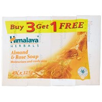 Himalaya Soap, Almond and Rose, 125g (Buy 3 Get 1 Free)
