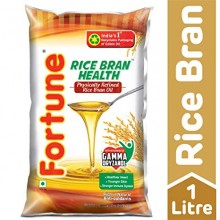 Fortune Rice Bran Health Oil, 1ltr Pouch