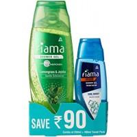 Fiama Men Cool Burst Shower Gel, 250ml+fiama gel+creme body wash 100ml travel pack