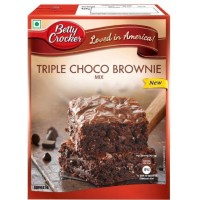 Betty Crocker Triple Choco Brownie Mix, 500g