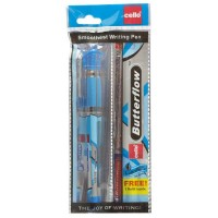 Cello Butter Flow Simply (Blue) Ball Pen 1N +Free 1 Refill Worth ₹5/-
