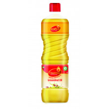 Daaniya Wood Pressed Groundnut Oil, 1ltr - Free Mr. Gold Lamp Oil, 500ml