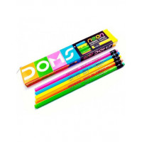 Doms Neon Rubber Tip Pencil, 10pcs