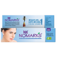 Bajaj NOMARKS Anti Marks Cream, For Dry Skin with Aloe Vera, Emblica and Almond Oil, 25g