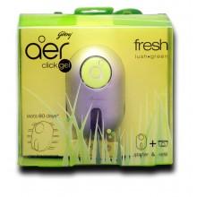 Godrej Click Gel Fragrance, fresh lush green, Starter + Refill