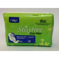 Stayfree Dry Max Ultra Dry Wings, 8 Pads
