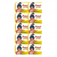 Amul School Pack Butter - Pasteurised, 100g (10U*10g)