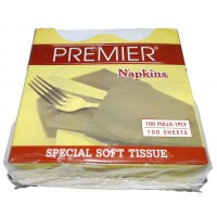 Premier Napkin 1 Ply, Special Soft Tissue, 100 pulls