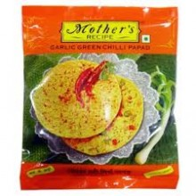 Mothers Garlic Green Chilli Papad