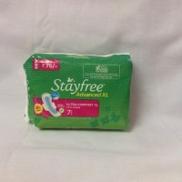 Stayfree Advanced XL Ultra Comfort XL With Wings, 7 Pads