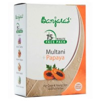 Banjaras Multani Mitti + Papaya Face Pack, 100g