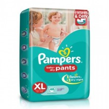 Pampers Baby Dry Pants XL 12+kg, 48 Pants