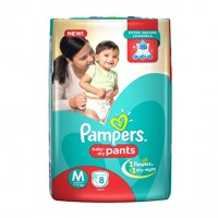 Pampers Baby Dry Pants M 7-12kg, 8 Pants