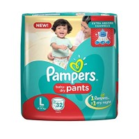 Pampers Baby Dry Pants L 9-14kg, 32 Pants
