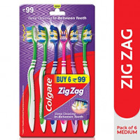 Colgate ZigZag Tooth Brush,  Buy 6 for Rs.99