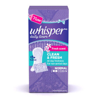 Whisper Clean & Fresh  Daily Liners, 20pcs