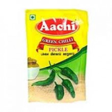 Aachi Green Chilli Pickle,  60g