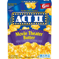 Act II Movie Theatre Butter Popcorn, 70g