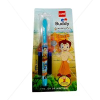 Cello Chhota Bheem Buddy Fountain Pen + FREE 2N Ink Cartridges