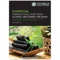 Mirabelle Charcoal Facial Sheet Mask, 1Nos