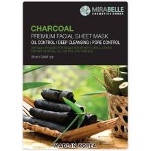 Mirabelle Charcoal Facial Sheet Mask, 1Nos