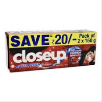 Closeup Ever Fresh Tooth Paste Pack of 2 x 150g, Save Rs.20/-
