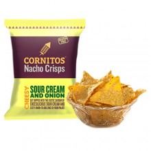 Cornitos Nacho Crisps Cheesy Sour Cream And Onion, 60g