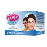 Fem Fairness Naturals Pearl Creme Skin Bleach - 8g