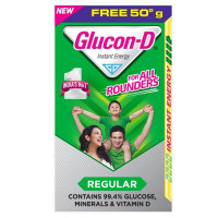 Glucon-D Energy Drink - Pure Glucose, Regular, 500g