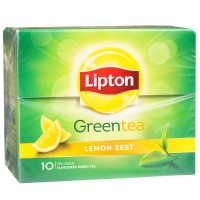 Lipton Green Tea - Lemon Zest, 10 pcs