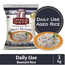 India Gate Basmati Rice Pouch, Super Rozzana, 1kg