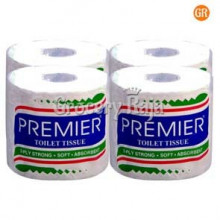 Premier Toilet Tissue Rolls 4 in 1 Family Pack, 2 Ply Strong