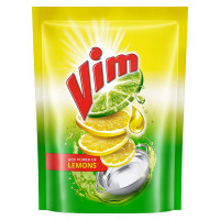 Vim Dishwash Liquid Gel Lemon Pouch, 500ml