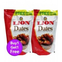 Lion Dates Seeded, 500gm (Buy 1 Get 1 Free)