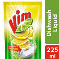 Vim Liquid Lemons Dishwash, 225ml