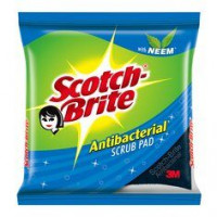 Scotch Brite Anti Bacterial Scrub Pad With Neem. 1pc
