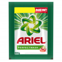 Ariel Perfect Wash Detergent Powder, 500g