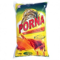 Porna Rice Bran Oil 1litre