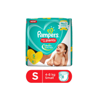 Pampers Pants (4-8kg) Small,  8pants