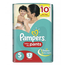 Pampers Pants (4-8kg) Small,  2pants