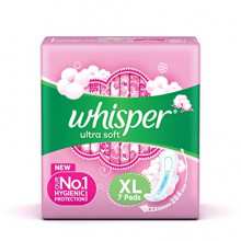Whisper Ultra Soft XL, 7pads