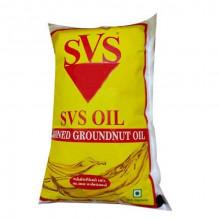 SVS Groundnut Oil Yellow, 1litre