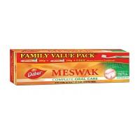 Dabur Meswak Tooth Paste, 200g+100 Free  Binaca Sensitive Toothbrush. Family Pack