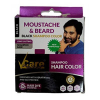 V Care Moustache & Beard Black Shampoo colour